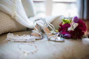 Wedding accesories on sofa
